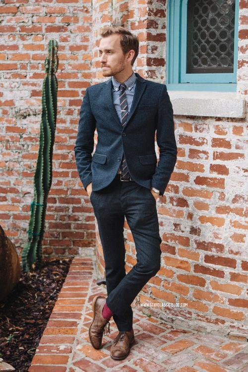 21 best blue suit brown shoes images on Pinterest