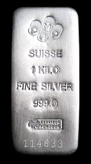Pamp Suisse 1 kilo Silver Bar, 999 Fine.