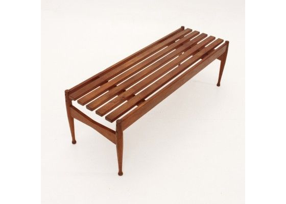 Italian Mid-Century Teak Bench, 1960s for sale at Pamono