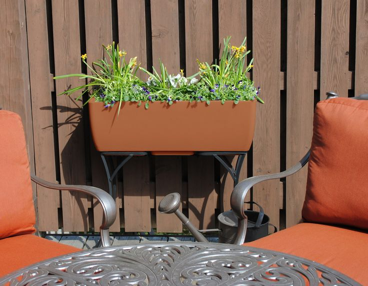 36x15 Terra Cotta RTS Home Accents Elevated Planter