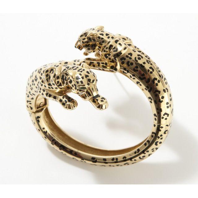 Shop CARTIER Panthère yellow gold bracelet