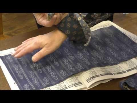Тиснение на ткани - YouTube