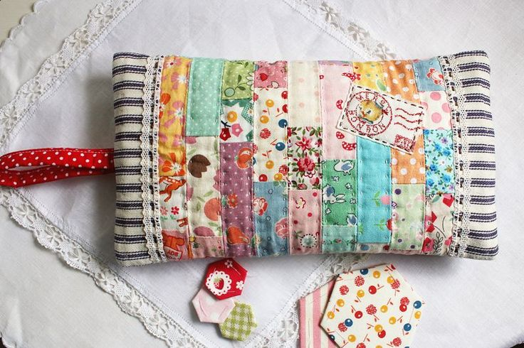 So cute - teensy patchwork pouch by nanaCompany...hmmm...would be cute made from hexagons too