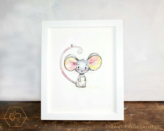 Cute Mouse Artwork Digital Download by BEEautifulcreatures on Etsy