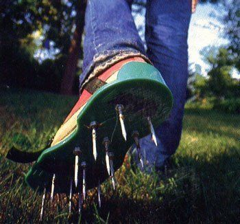 How To Build Lawn Aerator Sandals