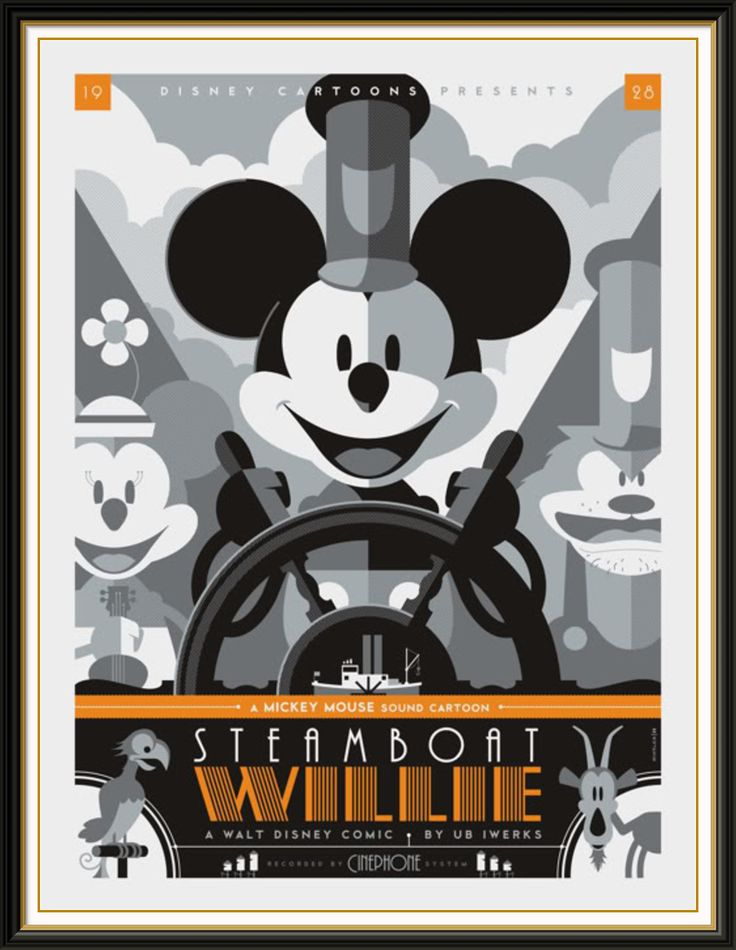 A beautifully designed Art Deco poster for Disney.