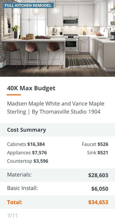 40k Max Budget Gray Desktop Full Kitchen Remodel Kitchen Remodel Small Kitchen Design