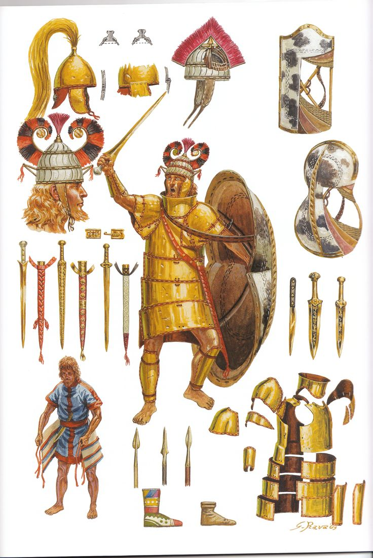 Giuseppe Rava's illustration of a late Bronze Age Mykenaean elite/noble warrior in full 'Dendra' style armour, circa 12th c. BCE.