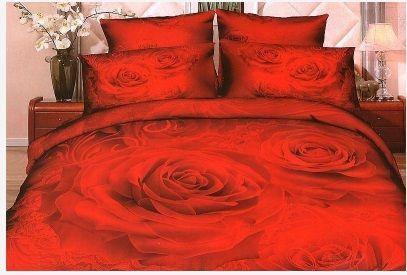 #Pościel_3D czerwone róże Elegancka pościel z efektem 3D z motywem czerwonych róż. Trójwymiarowy efekt kwiatów sprawi, że w takiej pościeli każdy zaśnie z prawdziwą przyjemnością.   Pościel wykonana z wysokogatunkowej satyny bawełnianej.  Produkt najwyższej jakości.    W skład pościeli 3 częściowej mniejszej wchodzi:  poszwa 160 x 200 cm dwie poszewki 70 x 80 cm Pościel zapinana na zamek.  Skład 100% bawełna  kasandra.com.pl