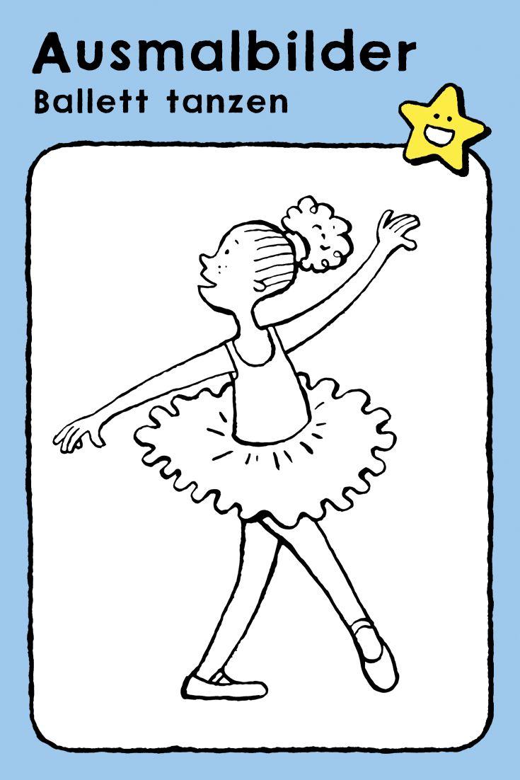 Ballett tanzen - kiddimalseite Tanzen Ausmalbilder