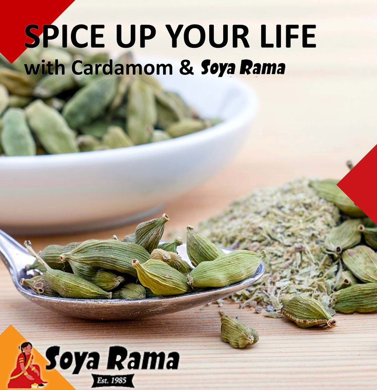 Cardamom, it's like the mom of spices! Said to prevent depression, this spice is rich in nutrients and serves as an antibiotic as well as aid in dental health ... you see just like a mom. So why not add a little care and cardamom to your next delish, Soya Rama dish! #soyaramaspiceupyourlife #healthy2018