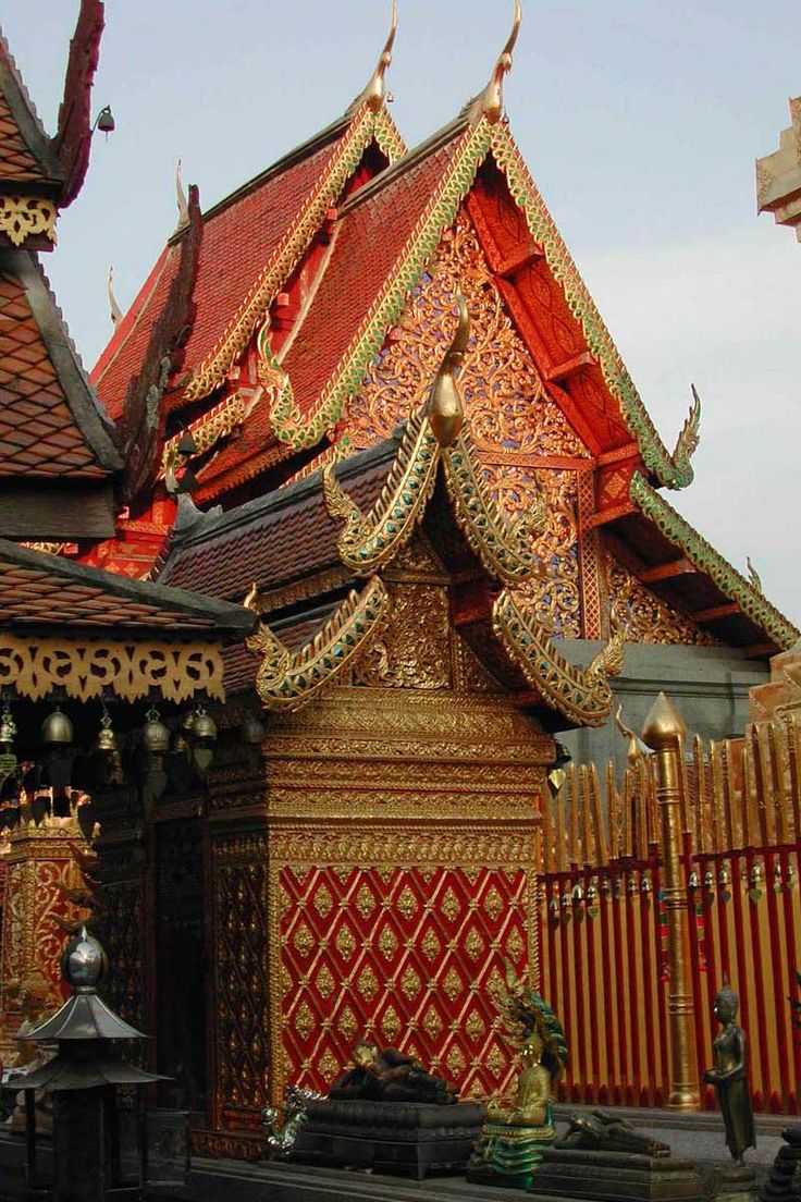 The intricate detailing in traditional thai architecture for Thailand architecture