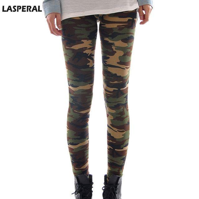 LASPERAL 2016 New Brands Women Leggings High Elastic Skinny Camouflage