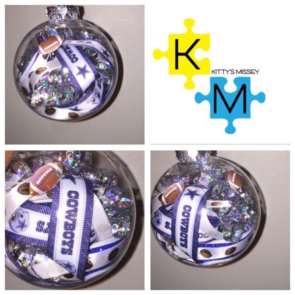 Dallas Cowboys   #dallas #cowboys #ornaments #kitttymissey  kittysmissey.etsy.com