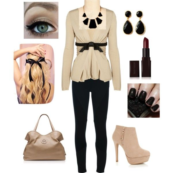complete cardigan outfit, created by beverly-d-spell on Polyvore