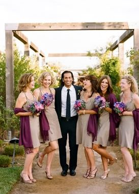 Deep Purple To Accessorize The Bridal Party
