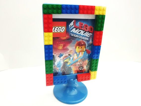 Lego® Picture Frame made with Bricks School photo, Family Picture Frame