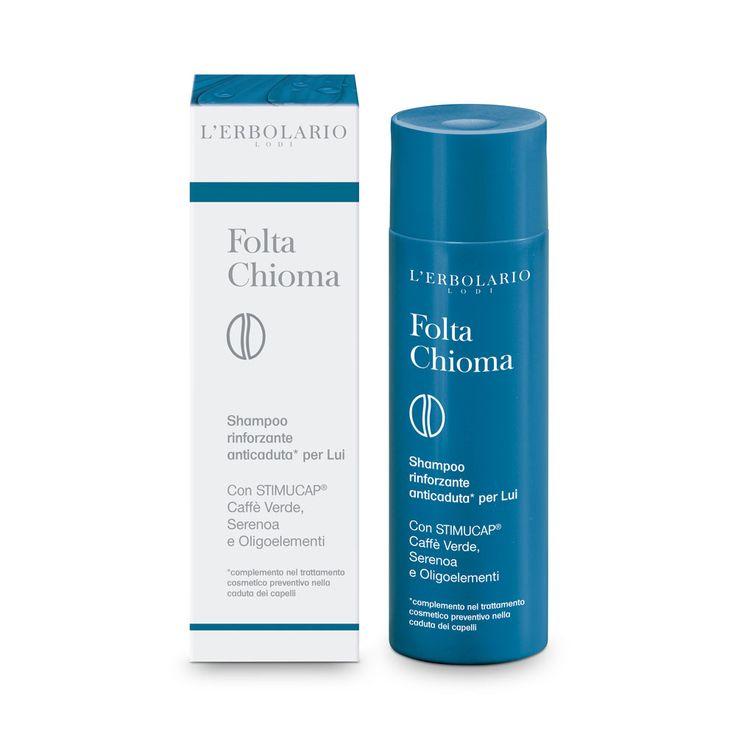 Shampoo rinforzante anticaduta* per Lui Con STIMUCAP®, Caffè Verde, Serenoa e Oligoelementi *complemento nel trattamento cosmetico preventivo nella caduta dei capelli
