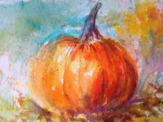 Watercolor Wanderings by Christy Lemp: Pumpkin Time