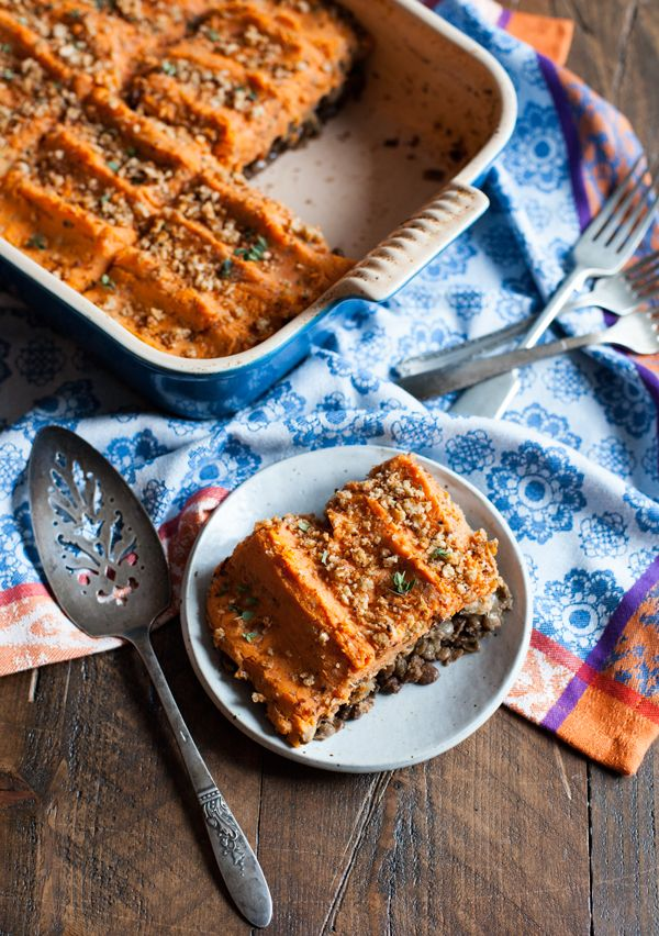 Vegan Sweet Potato and Lentil Shepherd's Pie | Choosing Raw ...