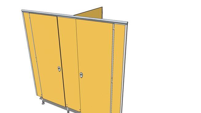 Toiletcubicle essence 2 doors - 3D Warehouse