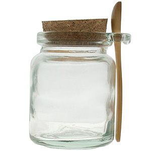 want these as containers for my bath salts. Aren't they cute with their wooden spoon?!