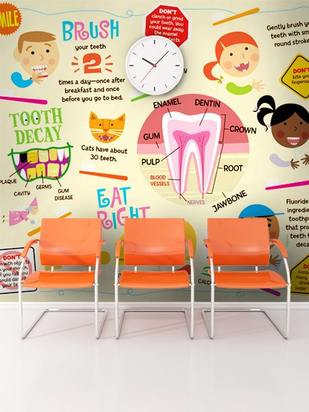 Add an educational mural to your pediatric dental offices waiting room!