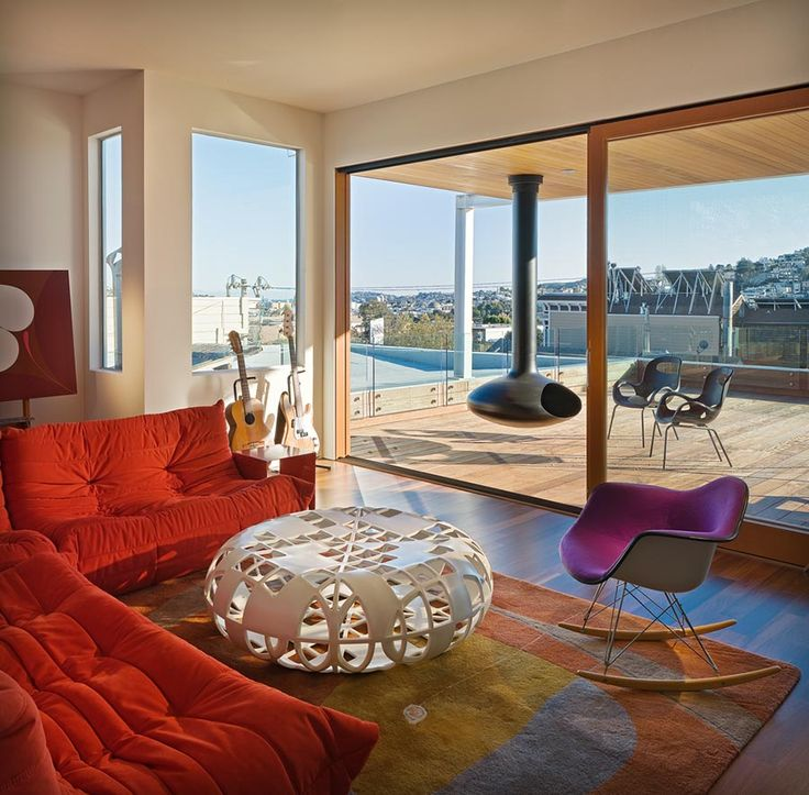 Modern House Located In San Francisco And A Living Area Designed With Togo  By Michel Ducaroy Part 98