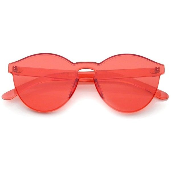 RED (82 BRL) ❤ liked on Polyvore featuring accessories, eyewear, sunglasses, glasses, delete, lens glasses, tinted glasses, red lens sunglasses, rimless glasses and tinted sunglasses