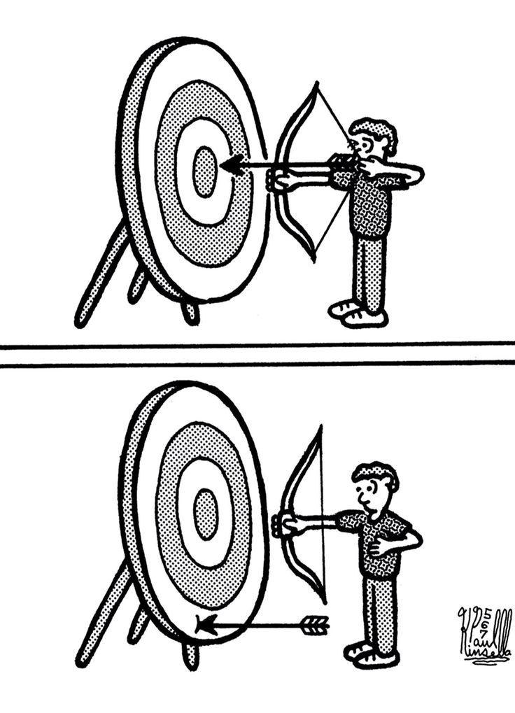 Bogenschießen Comic