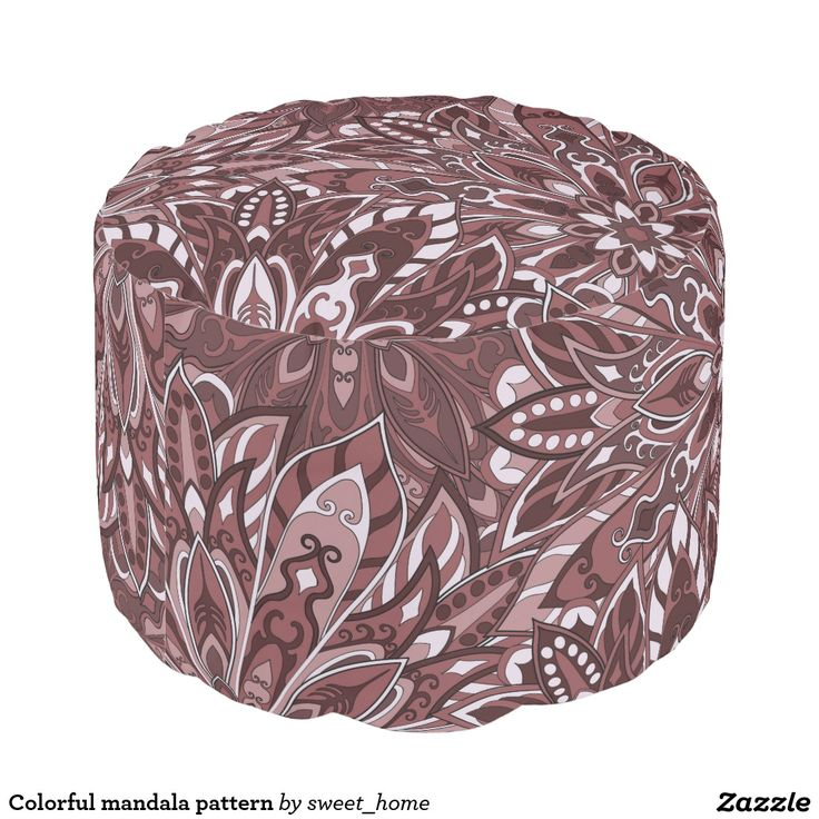 Colorful mandala pattern pouf  #Home #decor #Room #Interior #decorating #Idea #Styles #Traditional #Boho #Indian #Vintage #floral #motif