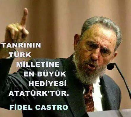 Hay agzini opeyim, Fidel! tayyipde seytanin hediyesi heralde!!!