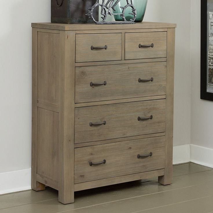 $660 real wood 37w X 46h Highlands 5 Drawer Chest - Kids Dressers and Chests at Hayneedle