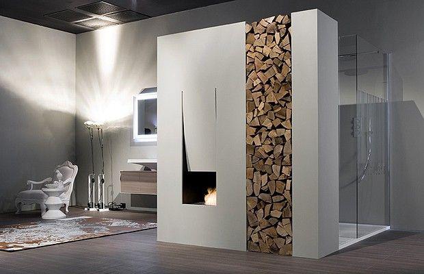 Veja três ambientes com a combinação inusitada de fogo e água