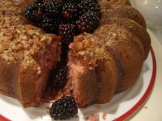 blackberry wine cake- my grandpa has made this for years!! its super moist and delicious!!!