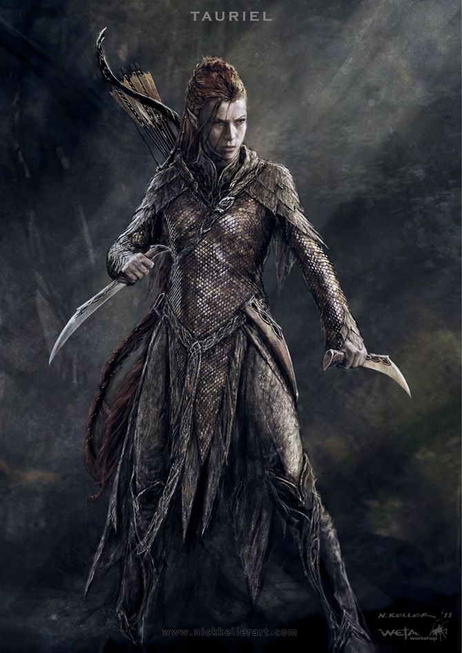 Nick Keller's concept art for The Hobbit: Tauriel