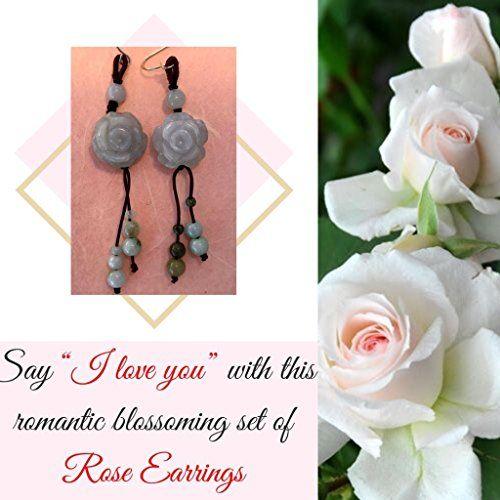 Rose Handmade Jade Earrings