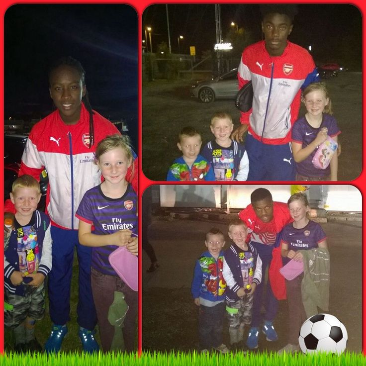3 of my little Demons went with Daddy to watch Arsenal under 21s vs Reading under 21s tonight and were lucky enough to meet   Tafari Moore, Stefan O'Connor & Ainsley Maitland-Niles!!! (1-0 Arsenal)