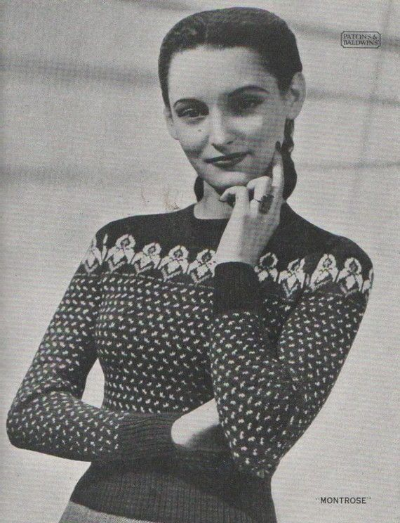 Vintage Fair Isle Knitting Pattern Book circa by SparrowFinds