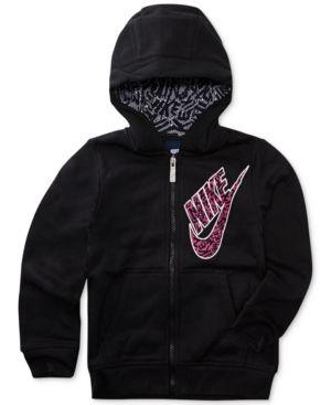 Nike Full-Zip Fleece Hoodie, Toddler Girls (2T-5T) - Black 2T