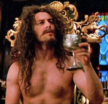 Jason Isaacs as Captain Hook. Shirtless *oops*