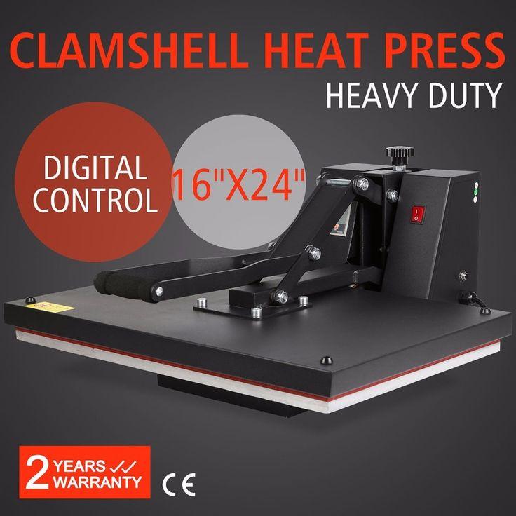 "Digital Clamshell 16"" X 24"" (40 X 60cm) Heat Press Transfer T-Shirt Sublimation Machine"