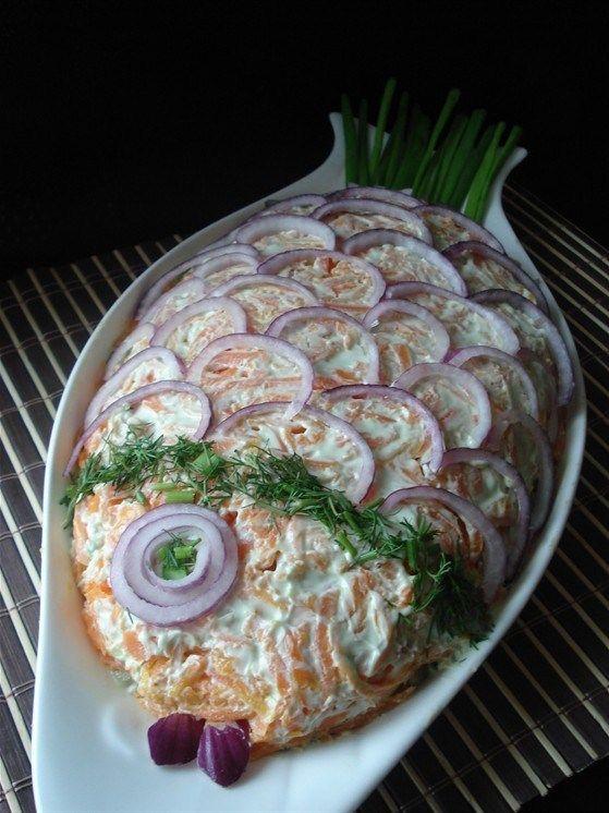 """Russian """"Fish"""" Salad (x-post from /r/RussianFood)"""
