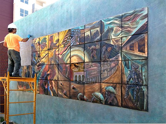17 best images about tampa fl public art installation on for Artwork on tile ceramic mural