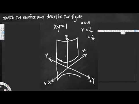 Sketching the quadric surface - Vector Calculus #3