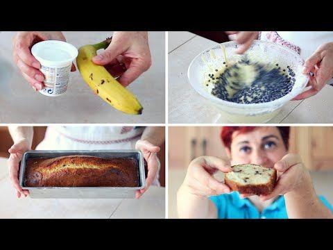 PLUMCAKE YOGURT E BANANA Ricetta Facile - Banana and Yogurt Plumcake Recipe - YouTube