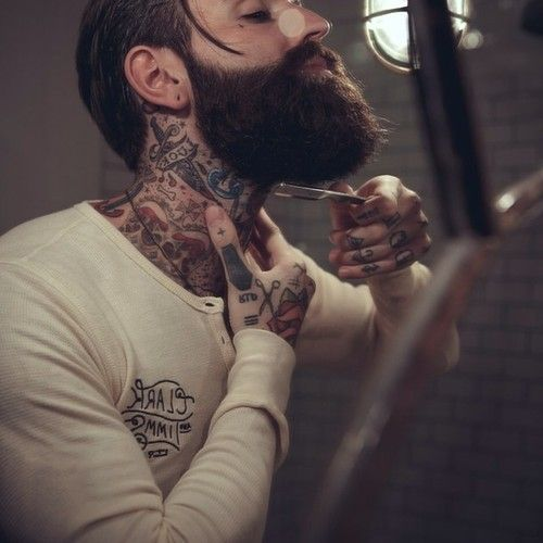 1473 best beards images on pinterest beard styles men for Barber neck tattoos