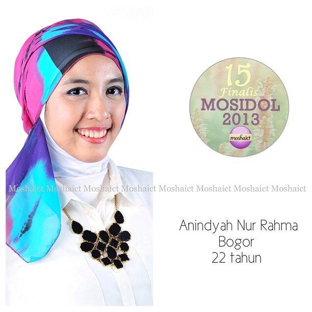 Anindyah Nur Rahma : 15 besar MosIdol 2013 #MosIdol2013 #moshaict #hijab #fashion #fashionhijab #islamicfashion | www.moshaict.com