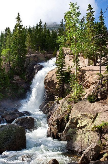 Alberta Falls, Rocky Mountains National Park, Colorado, USA