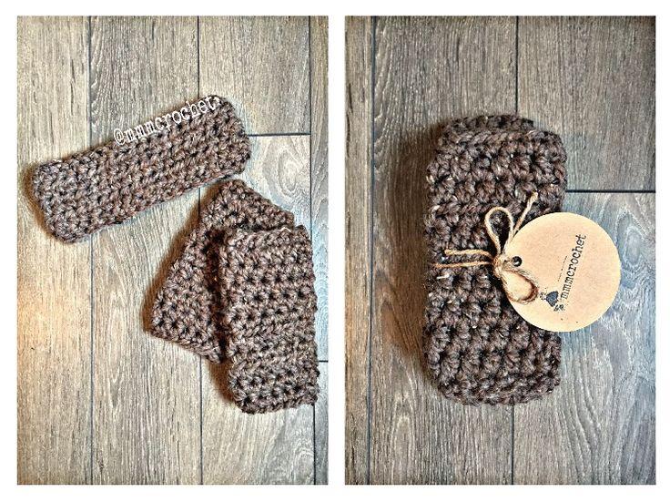 day twelve.. fingerless gloves + headband set in barley! details on etsy, shop link in bio!
